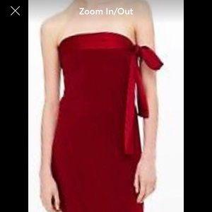 NWOT Club Monaco Strapless Red Dress
